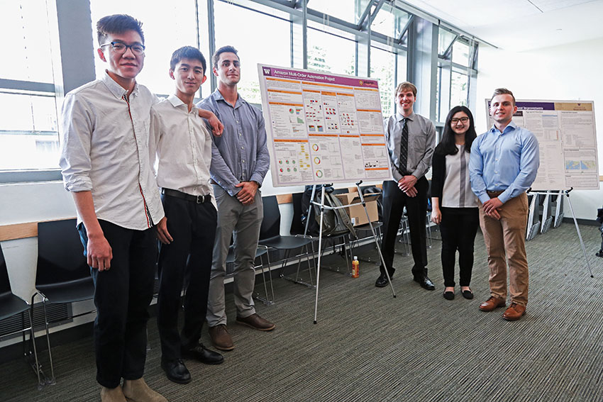 Amazon student group with poster