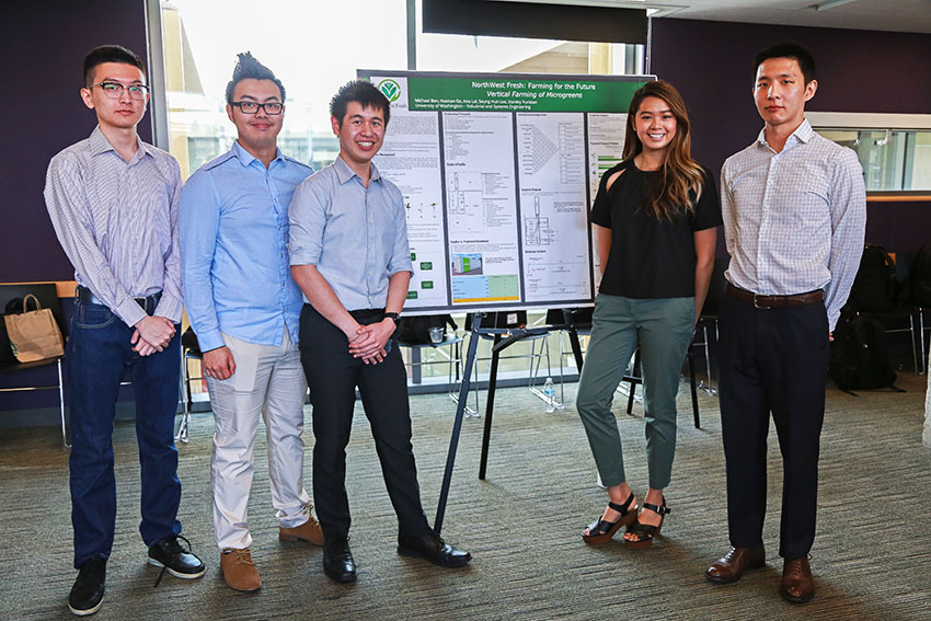 Microgreens student group and poster